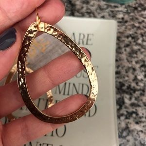 Stephanie Kantis Jewelry - Stephanie Kantis Gold Hammered Oval Hoop Earrings